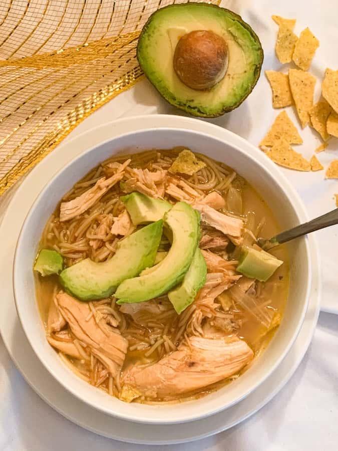 Chicken Lime & Avocado Soup