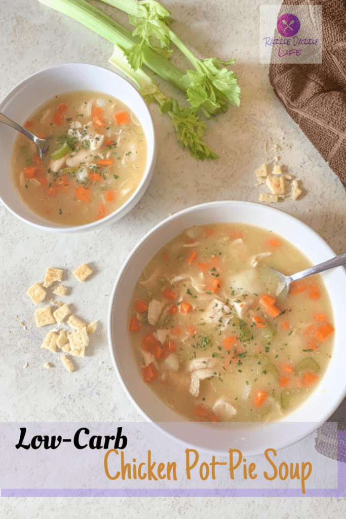 chicken, carrots, soup