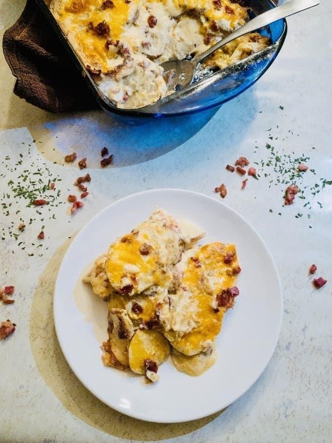 Cheesy Bacon Ranch Scalloped Potatoes