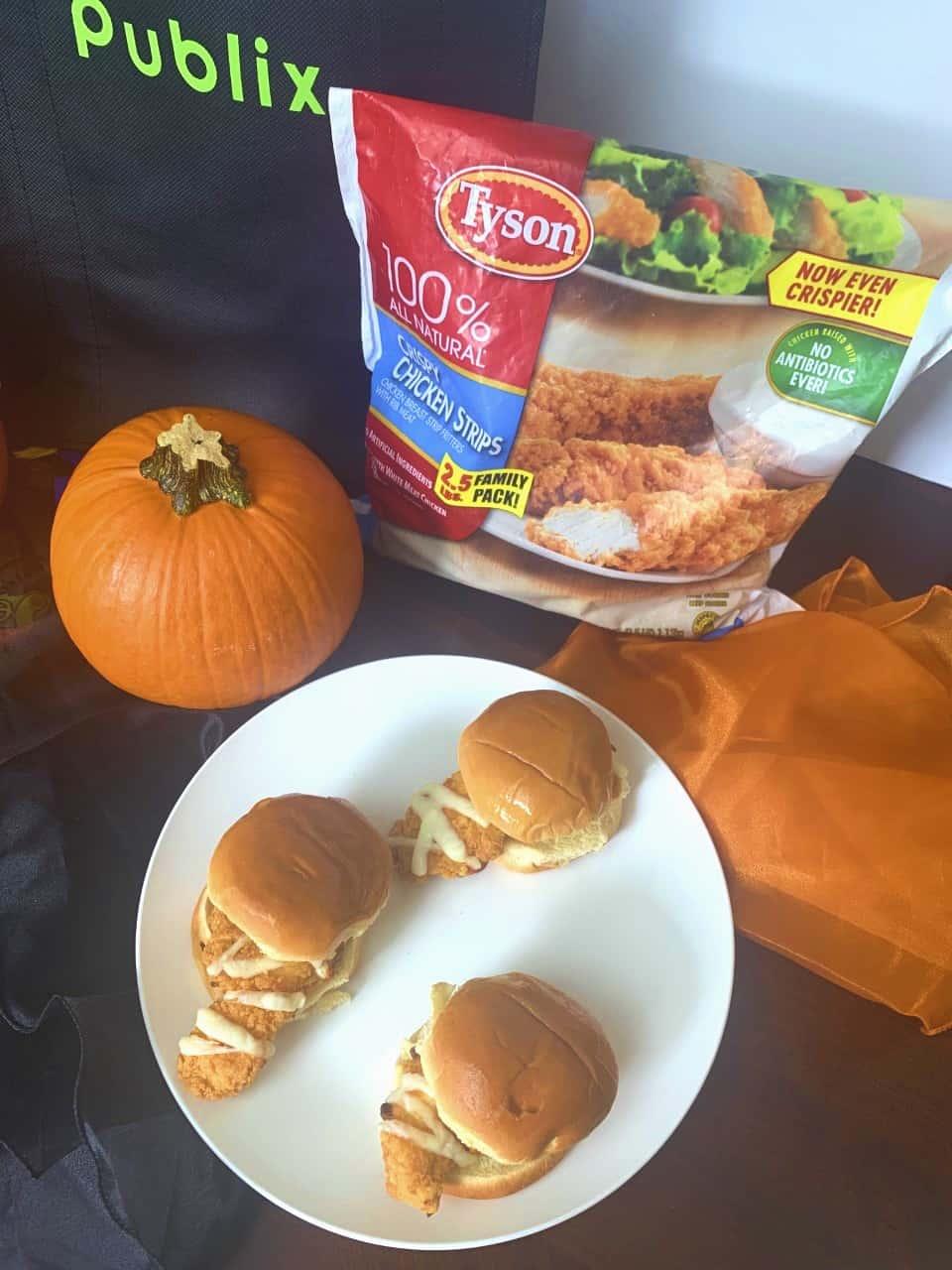 Mummy Sliders with Tyson® Chicken Tenders