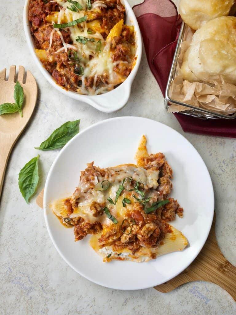 herb and ricotta pasta
