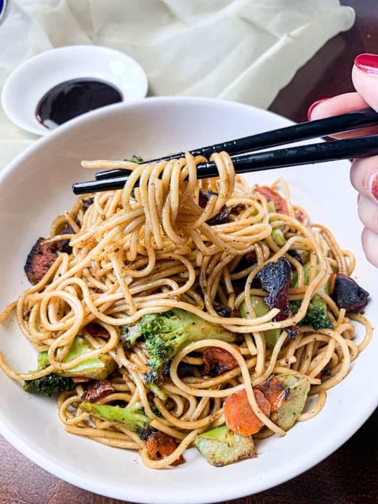 food court style Asian noodles