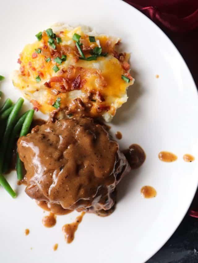 Brown Gravy Smothered Hamburger Steaks