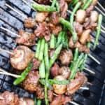 Steak Skewers with Mushrooms and Asparagus