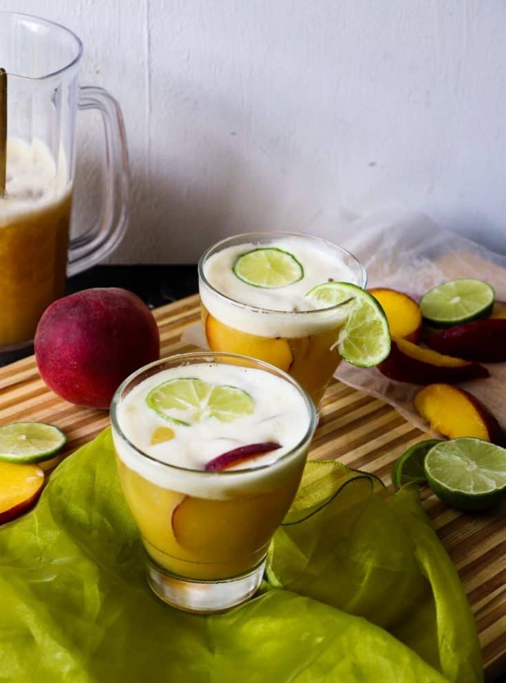 Bourbon Peach Limeade Smash