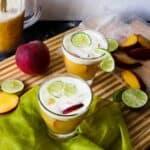 Bourbon Peach Limeade Smash