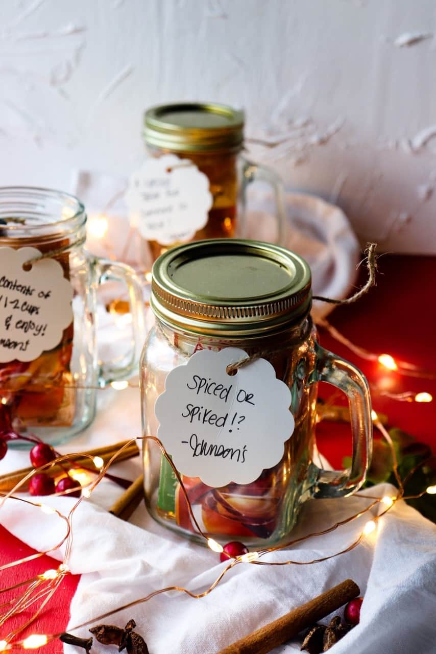 spiced or spiked apple cider gifts