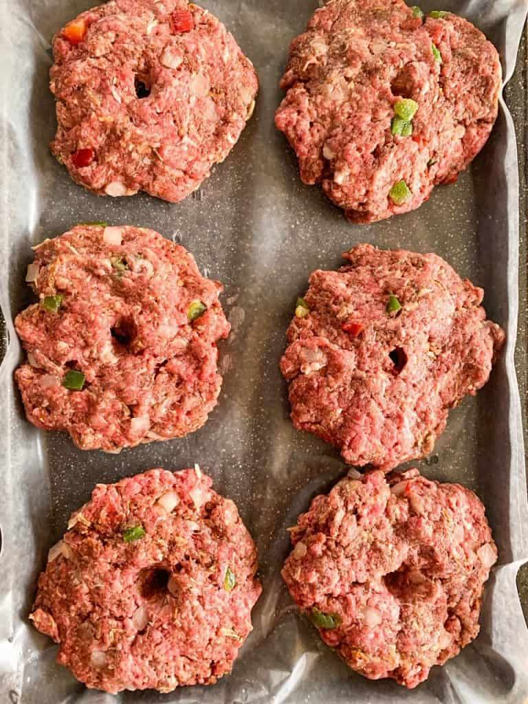 raw meat for hamburger steaks