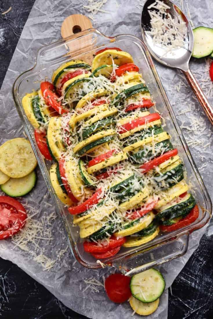 Parmesan Squash and Tomato Bake