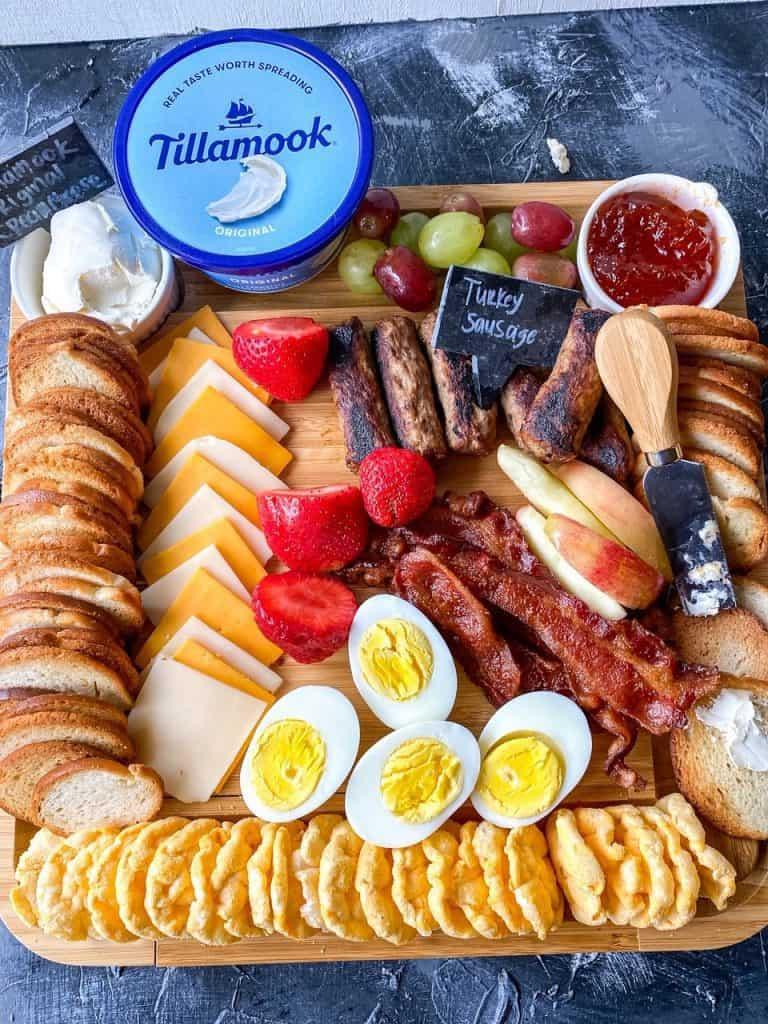 overhead shot of Breakfast Charcuterie Board