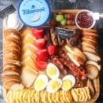 overhead picture of Breakfast Charcuterie Board