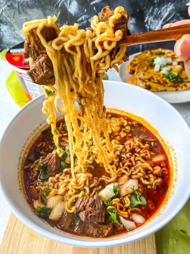 Birria Ramen with Beef