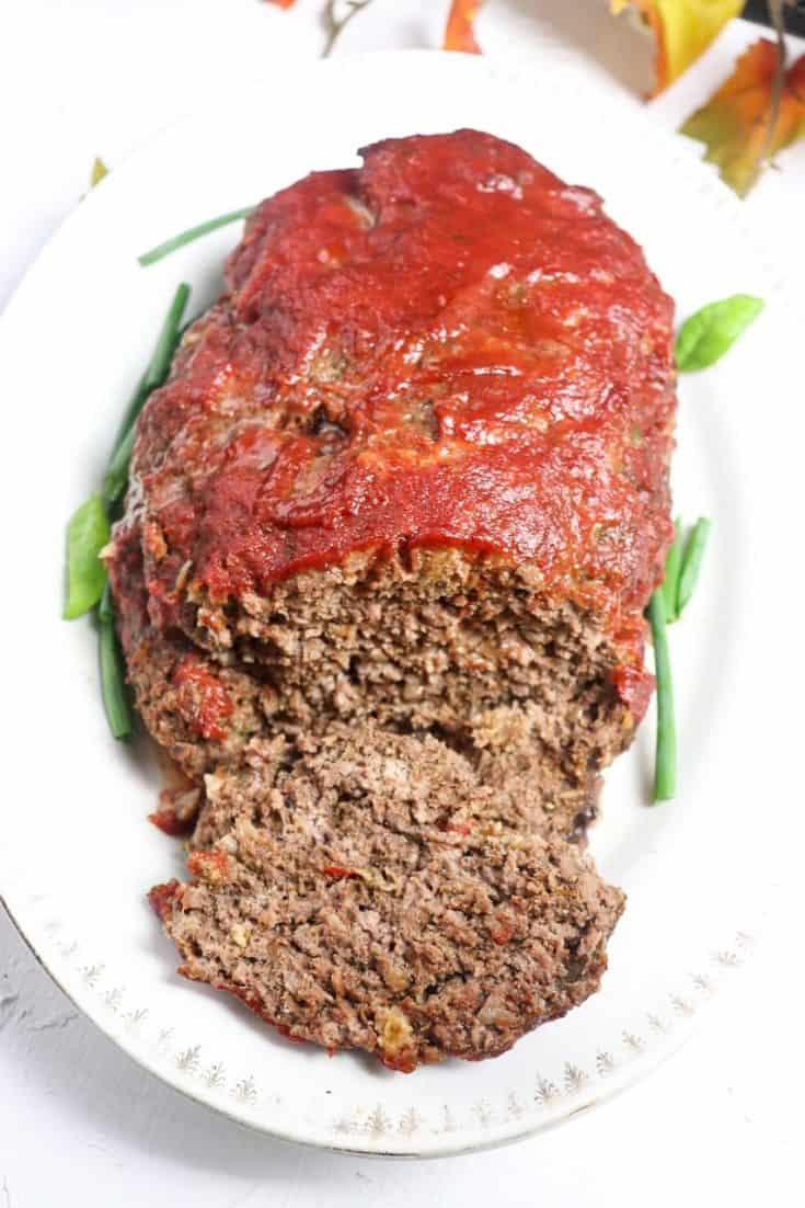 side angle of meatloaf