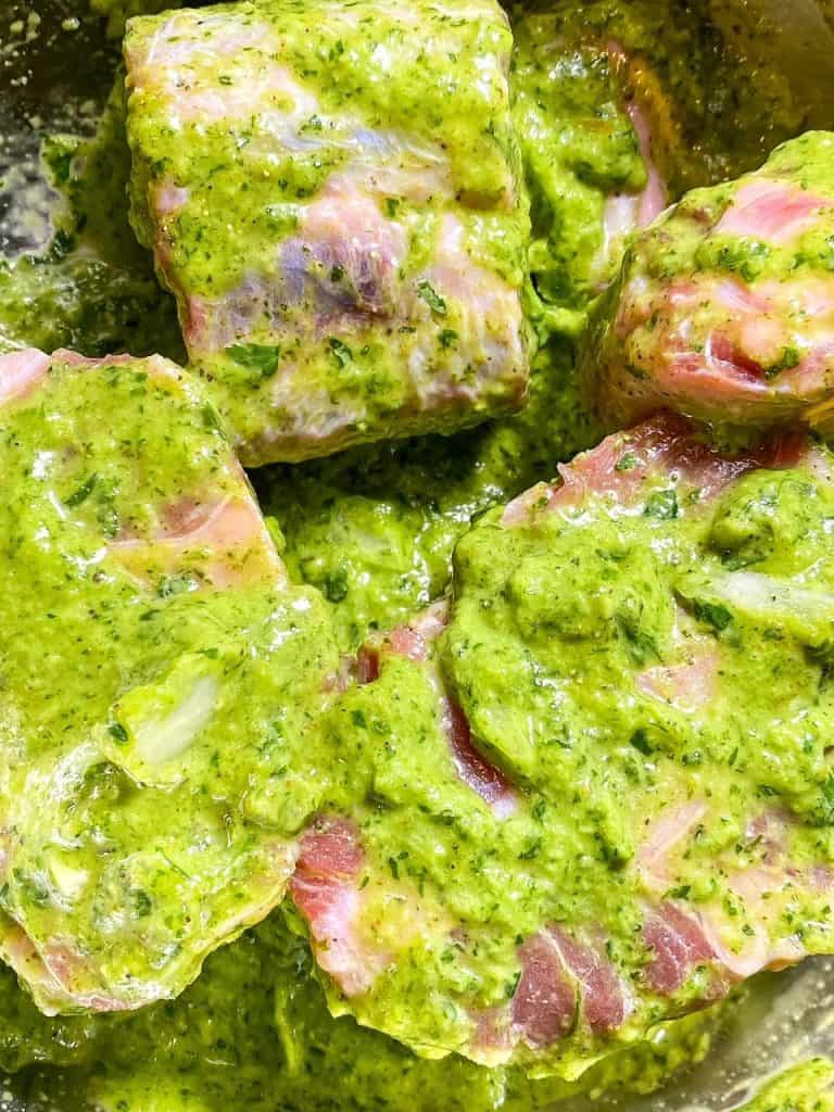 oxtails in marinade