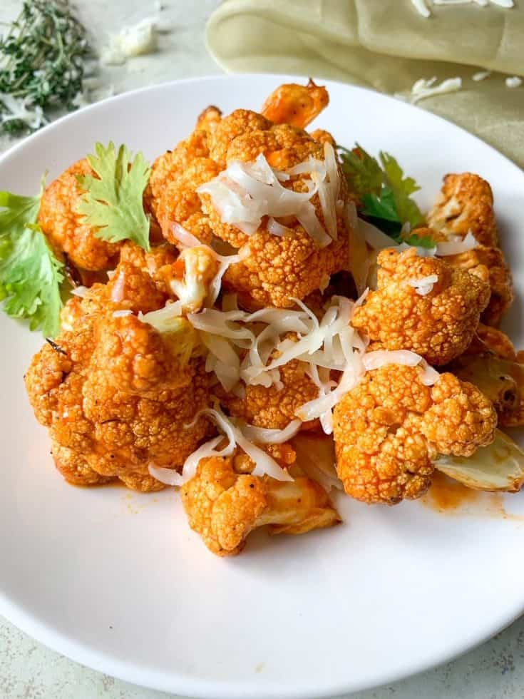 Cheesy Buffalo Cauliflower