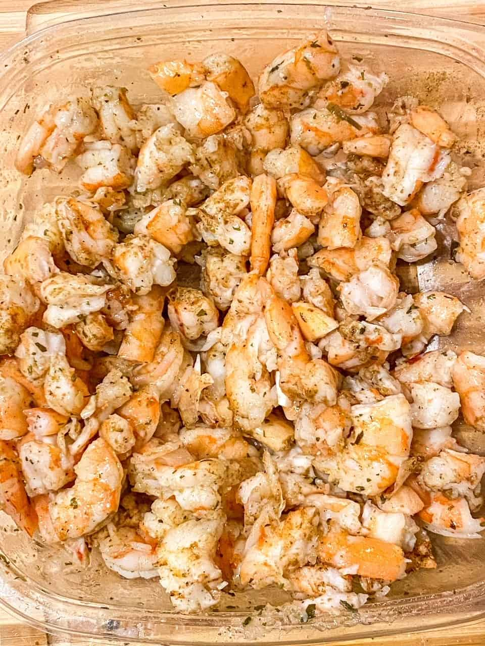 marinated cilantro lime shrimp
